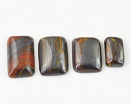 Genuine 81.00 Cts Untreated Iron Tiger Eye Cab Lot