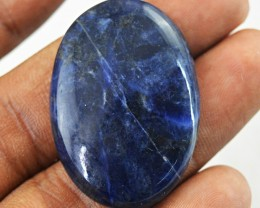 Genuine 34.50 Cts Blue Sodalite Oval Shape Cab
