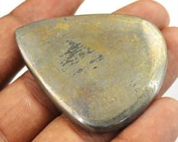 Genuine 113.00 Cts Pear Shape Golden Hematite Cab