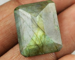 Genuine 15.00 Cts Golden Flash Labradorite Untreated Faceted Cab