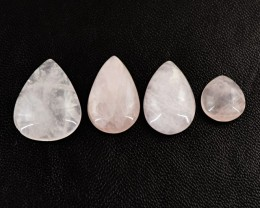 Genuine 59.00 Cts Pink Rose Quartz Untreated Cab Lot