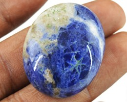 Genuine 57.00 Cts Blue Sodalite Untreated Cab