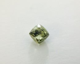 Fancy Green Gray 0.48 ct. Diamond cushion Cut