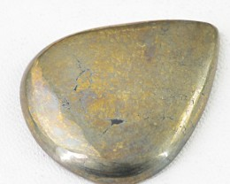 Genuine 89.90 Cts Pear Shape Golden Hematite Cab