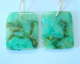Hot Style !!Semiprecious Gemstone Chrysocolla Square Earrings For Women,28x