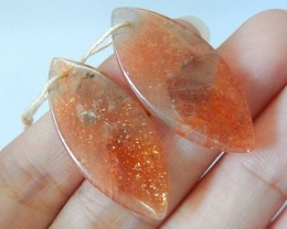 Sparkle Sunstone Marquise Earring Pair,33x15x4mm,Fashion Sunstone Beautiful
