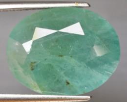 12.27 Cts Natural Green Grandidierite Oval Cut Madagascar Gem