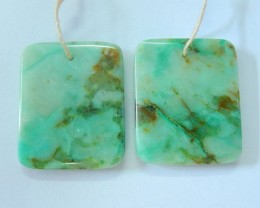 New Arrival!! 29X23X5MM Natural Chrysocolla Square Earring Pair For Women,F