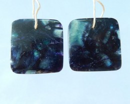 50.5ct Natural Fluorite Square Earrings For Women(17083006)