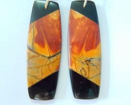 New Design,Elegant Intarsia Earrings,Natural Muti Color Picasso Jasper AND