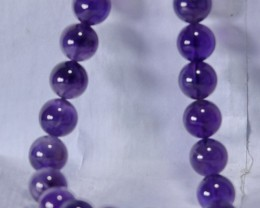 288 CT Natural Amethyst Necklaces Carved Beads Stone Special Shape