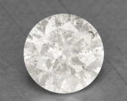 0.14 Cts Natural White Diamon Round Africa