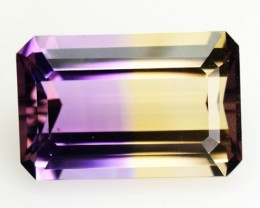 5.37 Cts Natural Bi Color Ametrine Octagon Cut Bolivian Gem