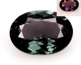 1.32 Cts Natural Color Change Garnet - GREEN to PURPLE - Oval - Tanzania