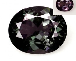 1.70 Cts Natural Color Change Garnet - GREEN to PURPLE - Oval - Tanzania