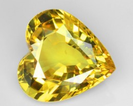 ~HEART~ 3.04 Cts Natural Corundum Sapphire Canary Yellow Thailand Gem