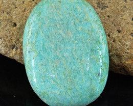 Genuine 42.00 Cts Amazonite Oval Shape Cab