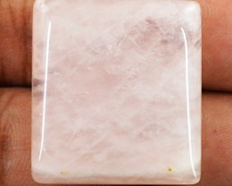 Genuine 47.50 Cts Pink Rose Quartz Untreated Cab