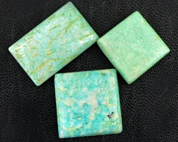Genuine 80.50 Cts Amazonite Untreated Cab Lot