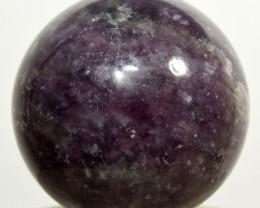 "2.1"" Purple Lepidolite Sphere Litha Mica Crystal - Brazil (STLPB-NA90)"