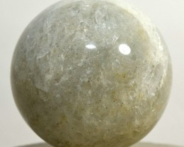 "2.1"" Prasiolite Sphere Green Quartz Crystal Mineral - India STPRB-NN53"