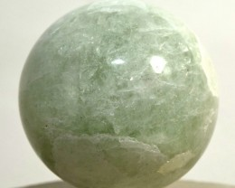 "2.1"" Prasiolite Sphere Green Amethyst Quartz Crystal India STPRB-NN54"