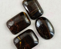 Genuine 87.50 Cts Untreated Iron Tiger Eye Cab Lot