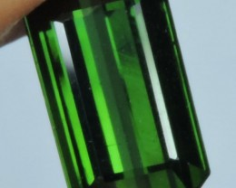 3.80 cts Attractive Natural Rare Octagon-Cut Green Tourmaline Gemstone $488