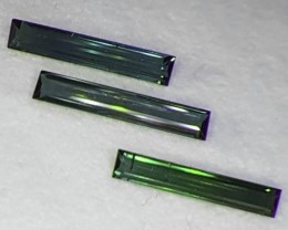 9.10 CTS DAZZLING NATURAL LONG SIZE GREEN TOURMALINE MOZAMBIQUE NR