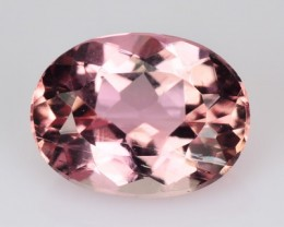 *RAREST* 1.51 Cts UNHEATED - NATURAL IMPERIAL TOPAZ - BABY PINK - OVAL - BR