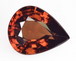 4.32 Cts NATURAL ZIRCON - REDDISH BROWN - PEAR - TANZANIA