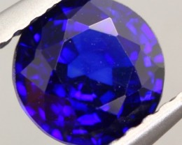 1.21Ct Natural Royal Blue Sapphire Round Cut