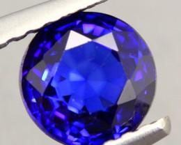 1.25Ct Natural Royal Blue Sapphire Round Cut