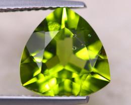 3.28Ct Natural Green Peridot Trillion Cut Lot D510