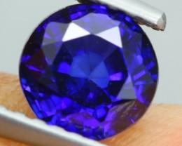 1.21Ct Natural Royal Blue Sapphire Round Cut