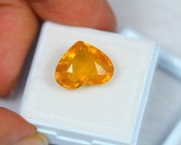 9.20Ct Natural Yellow Sapphire Heart Cut Lot V678
