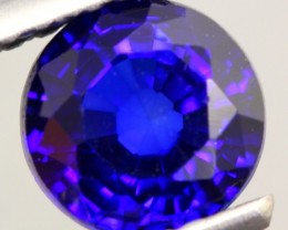 1.15Ct Natural Royal Blue Sapphire Round Cut