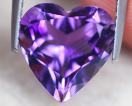 4.02ct Natural Purple Amethyst Heart Cut Lot D543