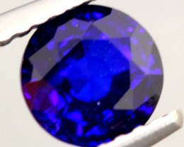 1.05Ct Natural Royal Blue Sapphire Round Cut