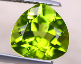3.82Ct Natural Green Peridot Trillion Cut Lot D506