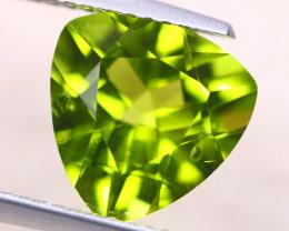 3.46Ct Natural Green Peridot Trillion Cut Lot D505