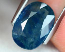 2.76Ct Natural Greenish Blue Sapphire Oval Cut S167