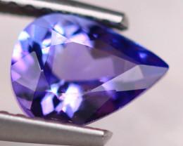 1.10ct Natural Violet Blue Tanzanite Pear Cut Lot S184