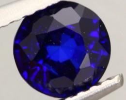 1.02Ct Natural Royal Blue Sapphire Round Cut