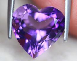 4.52ct Natural Purple Amethyst Heart Cut Lot D540