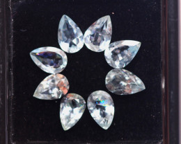 2.70ct Natural Blue Aquamarine Pear Cut Lot S218
