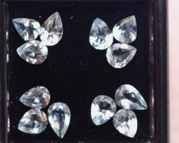 3.15ct Natural Blue Aquamarine Pear Cut Lot S219