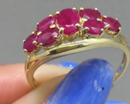 Marvelous $2375 Nat 1.50ct Ruby Cocktail Ring 14K Soild Yel Gold