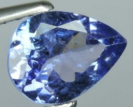 1.08 CTS MIND BOGGLING NATURAL RICH FIRE BLUE PEAR TANZANITE NR