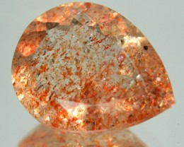 3.95 Cts Natural Brick Red Dot Sunstone Pear Cut Congo Gem